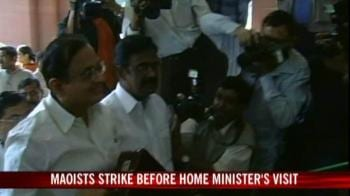 Video : Maoists strike ahead of Chidambaram's visit