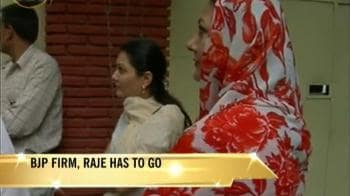 Video : BJP's royal snub for Vasundhara Raje