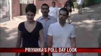 Video : Priyanka's poll-day look
