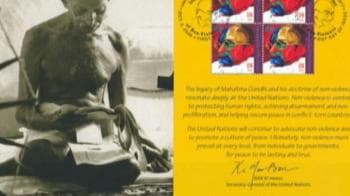 Video : United Nations releases Gandhi stamp