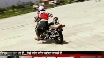 Videos : Stunt mania grips India: A look