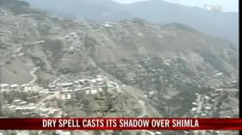 Video : Dry weather casts its shadow over Shimla