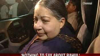 Video : Nothing to say about Rahul: Jayalalithaa