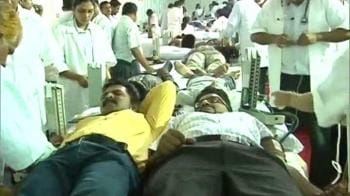 Video : Blood donation camp at CST station
