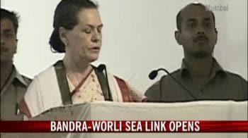 Video : Sonia Gandhi inaugurates the Bandra-Worli Sea Link