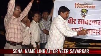 Video : Sena protests naming sea link after Rajiv Gandhi