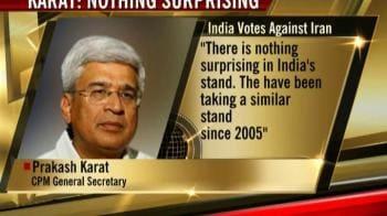 Video : India's vote against Iran not surprising: Karat