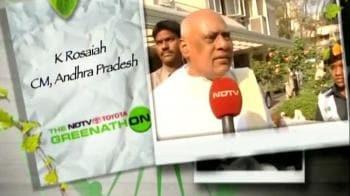 Video : Andhra CM Rosaiah's green pledge