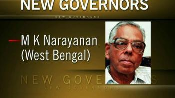 Video : New Governors finalised; Narayanan to get West Bengal
