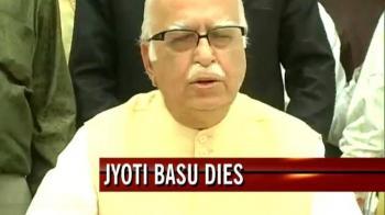 Video : Basu was a stalwart, says Advani