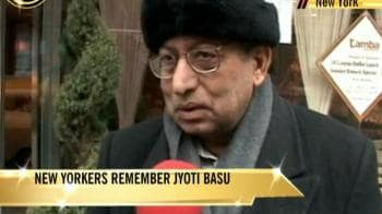 Video : New Yorkers remember Jyoti Basu