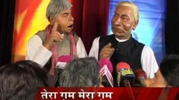 Videos : Nitish, Lalu address mediapersons