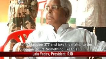 Video : Homosexuality is a crime: Lalu