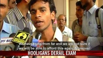 Video : Hooligans attack rail exam candidates