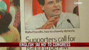 Video : English 'Jai Ho' to Congress