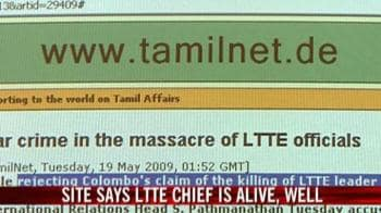 Video : Site says LTTE chief is alive and well
