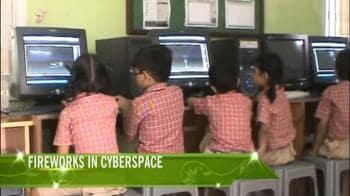 Video : Fireworks in cyberspace