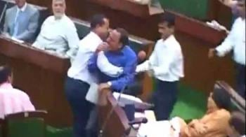 Video : Ruckus in J&K assembly, MLAs marshalled out