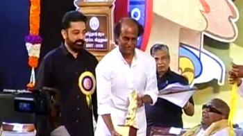 Video : Legends together: Rajinikanth, Kamal Haasan felicitated