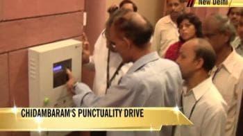 Video : Chidambaram's punctuality drive at Home