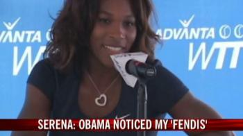 Video : Serena on a high after meeting Obama