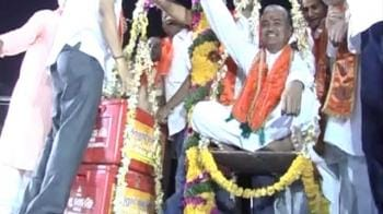Video : Now, BJP leader weighed in blood