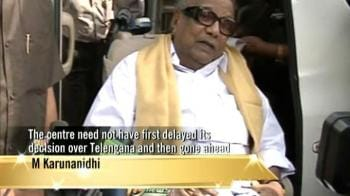 Video : Hasty announcement on Telangana: Karunanidhi