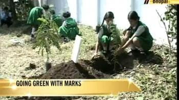 Video : Bhopal children go green, plant trees