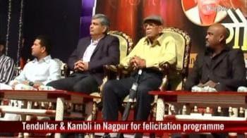 Video : Sachin, Kambli come face to face