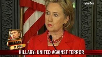 Video : India, US stand united against terror: Hillary
