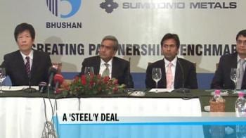 Video : Japan's Sumitomo may pick stake in Bhushan's project
