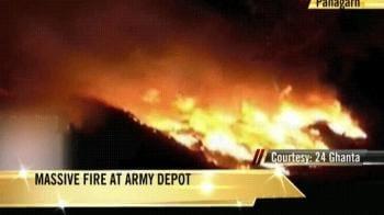 Video : Massive fire at ammunition depot