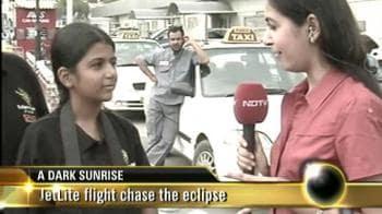 Video : JetLite flight chase the eclipse