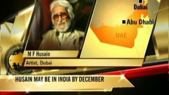 Video : I was dreaming of being back in India: Husain