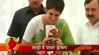 Videos : Priyanka Gandhi's power dressing