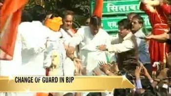 Video : Nagpur welcomes Gadkari
