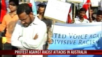 Video : Protest against racist attacks in Australia