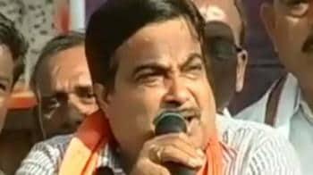 Video : Nagpur's rousing welcome for Gadkari