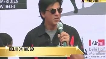 Video : Shahrukh Khan at the Delhi Half Marathon