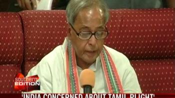 Video : India concerned about Lankan Tamils' plight: Pranab
