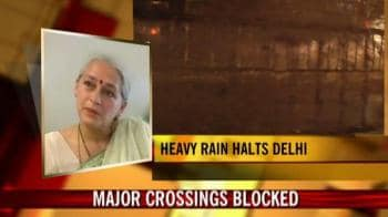 Video : Delhi rain: Nafisa upset with civic bodies