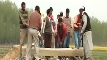 Video : Terror hits Kashmir's first rail service, track blown up