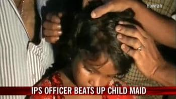 Video : IPS officer beats up child maid
