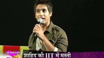 Videos : Shahid Kapoor performs on stage at IIT campus