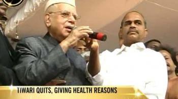 "Video : Tiwari's resignation an act of taking ""moral responsibility"": Congress"