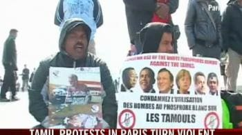 Video : Tamil protest in Paris turns violent