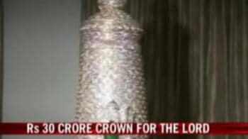 Video : Gold crown to Lord Balaji