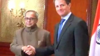 Video : Geithner hails economic partnership with India