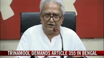 Video : Trinamool demands Article 355 in Bengal