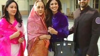 Video : Shilpa, Raj meet the royal family of Jaipur